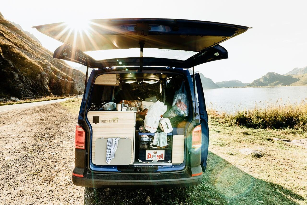 La capacité du van aménagé Otago de Freedom Camper en Norvège